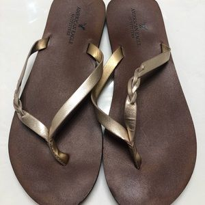 Rose Gold American Eagle Outfitters Sandals